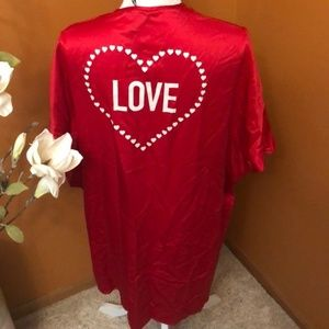 Victoria Secret robe. Red. New with tags.